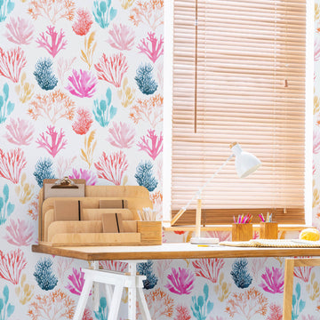Coral print removable wallpaper