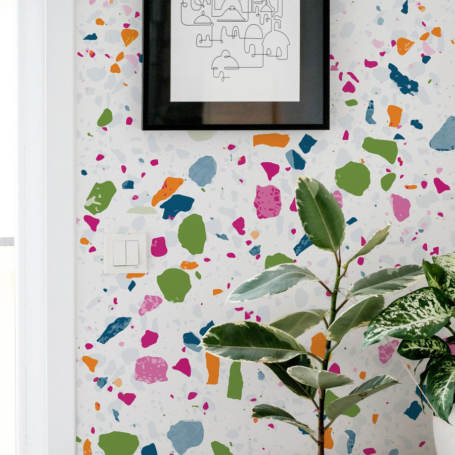 Multicolor Terrazzo Design Removable Wallpaper