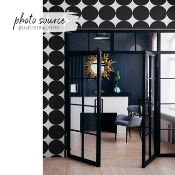 Modern black & white removable wallpaper