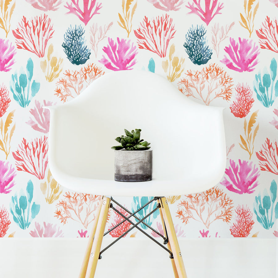 Coral Reef Removable Wallpaper For Kids Interior By Livettes