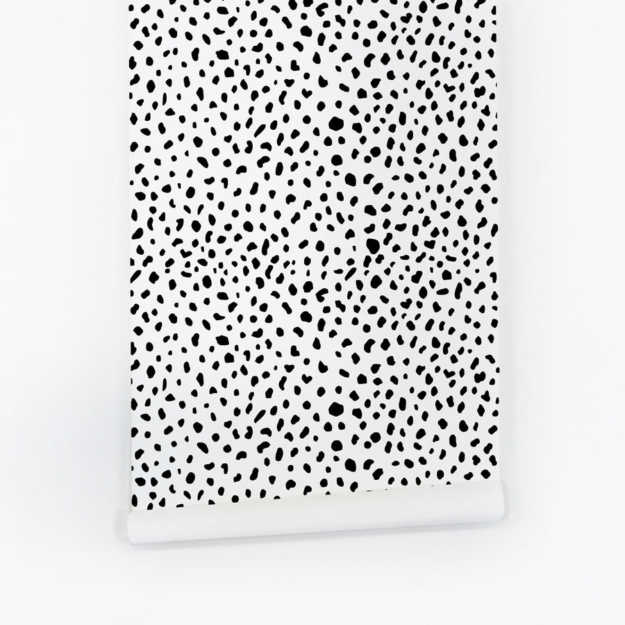 Dalmatian peel and stick wallpaper for rentals