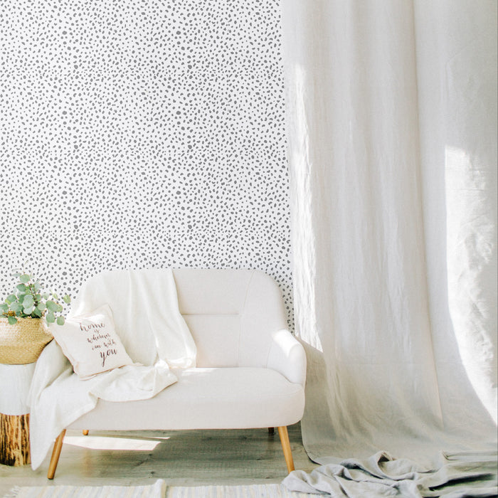 Dalmatian removable wallpaper in black and white