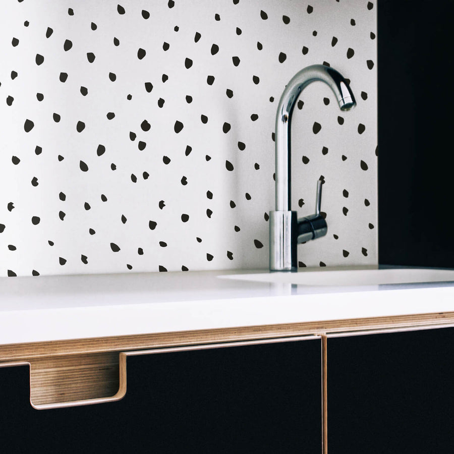 Eclectic paint dot removable wallpaper