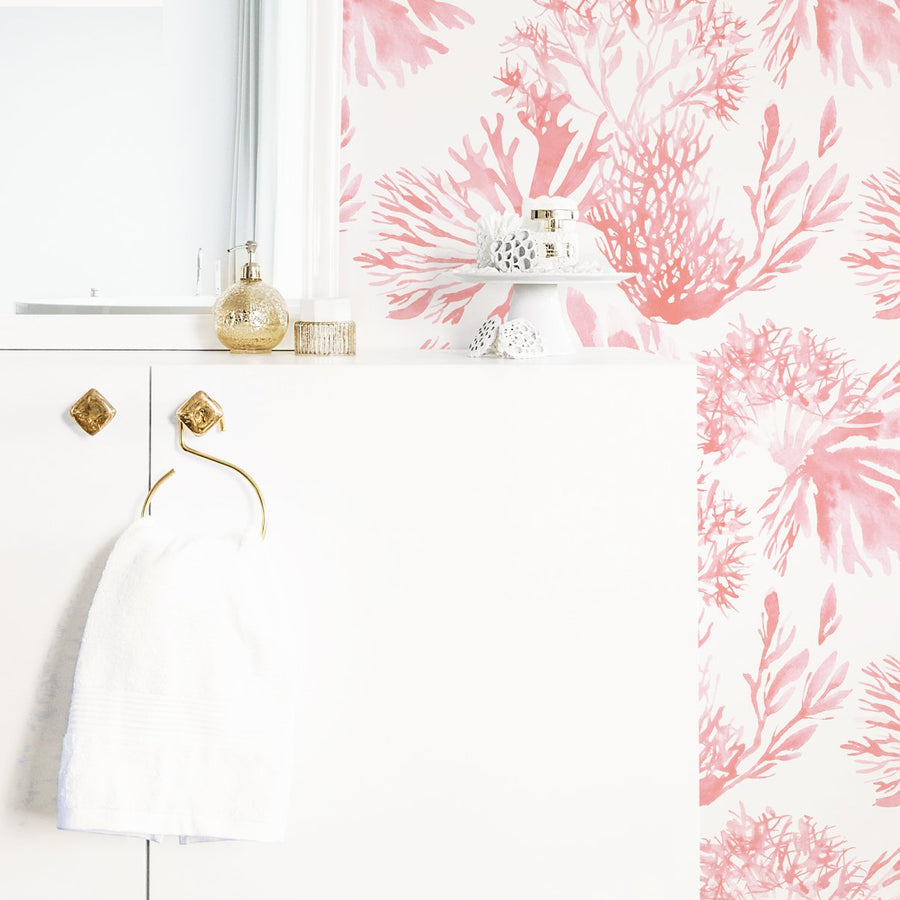 Custom Order: Elegant Coral Wallpaper