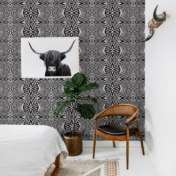 African print removable wallpaper