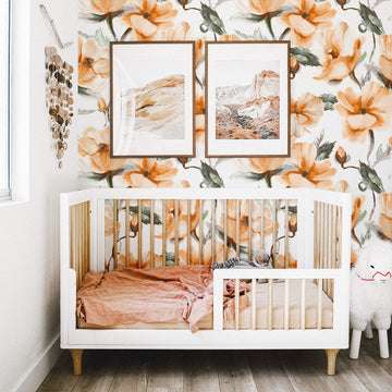 Floral design removable wall mural