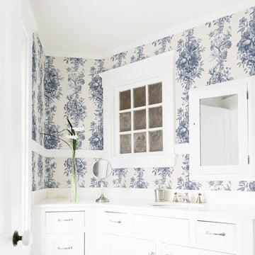 Toile pattern removable wallpaper