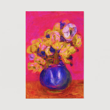 Vase with flowers oil painting reproduction print
