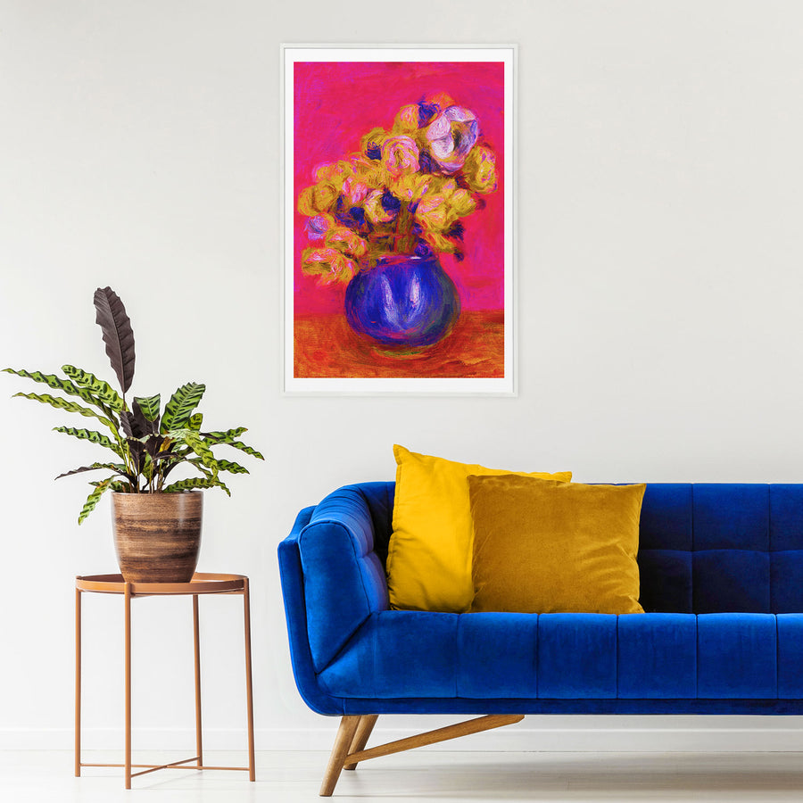 Floral art print wall decor