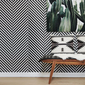 Modern scandi boho removable wallpaper