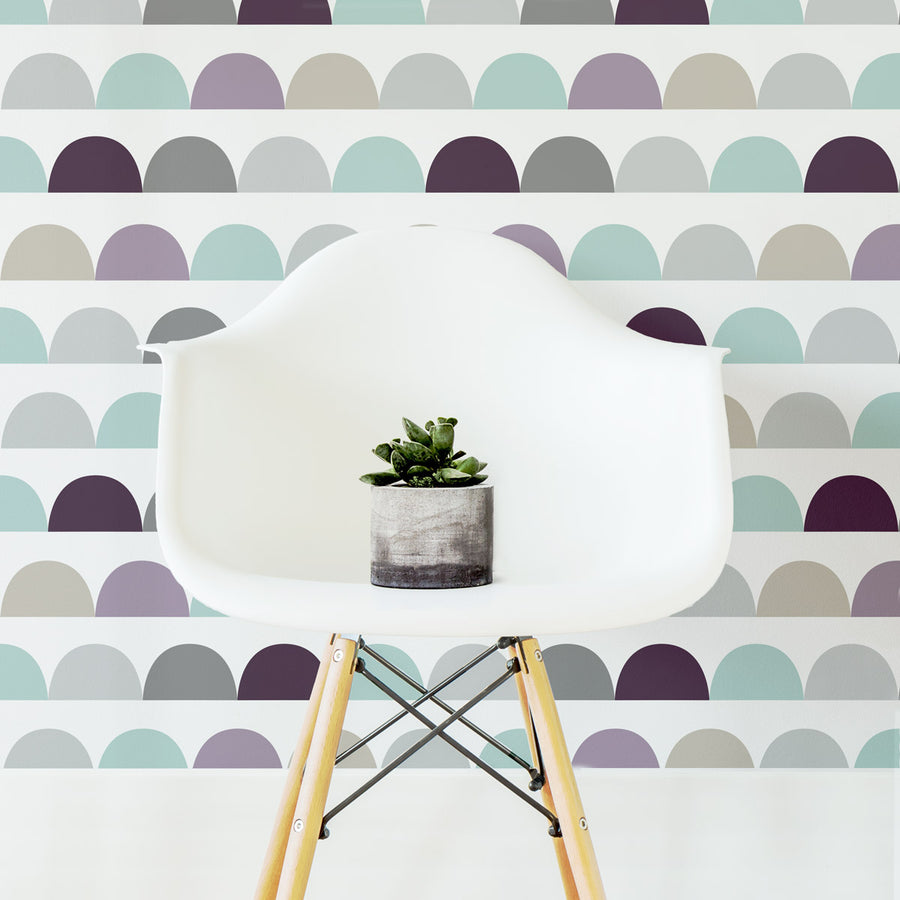 Kids room geometric cloud removable wallpaper