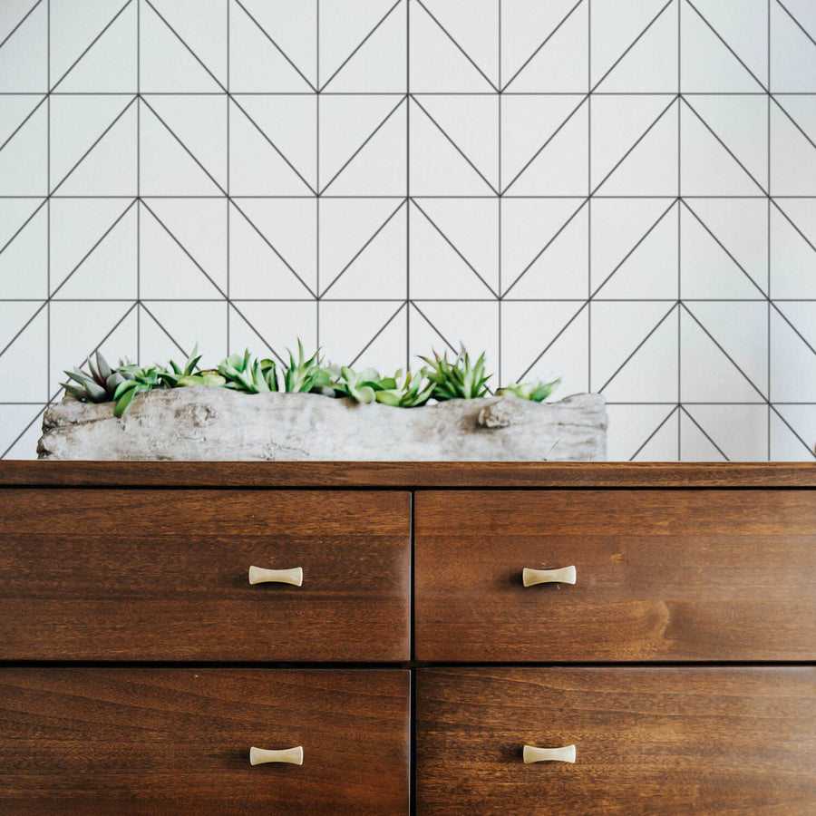 Scandinavian chevron design removable wallpaper