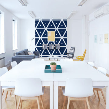 Large triangle pattern removable wallpaper