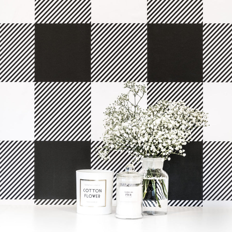 Buffalo check removable wallpaper