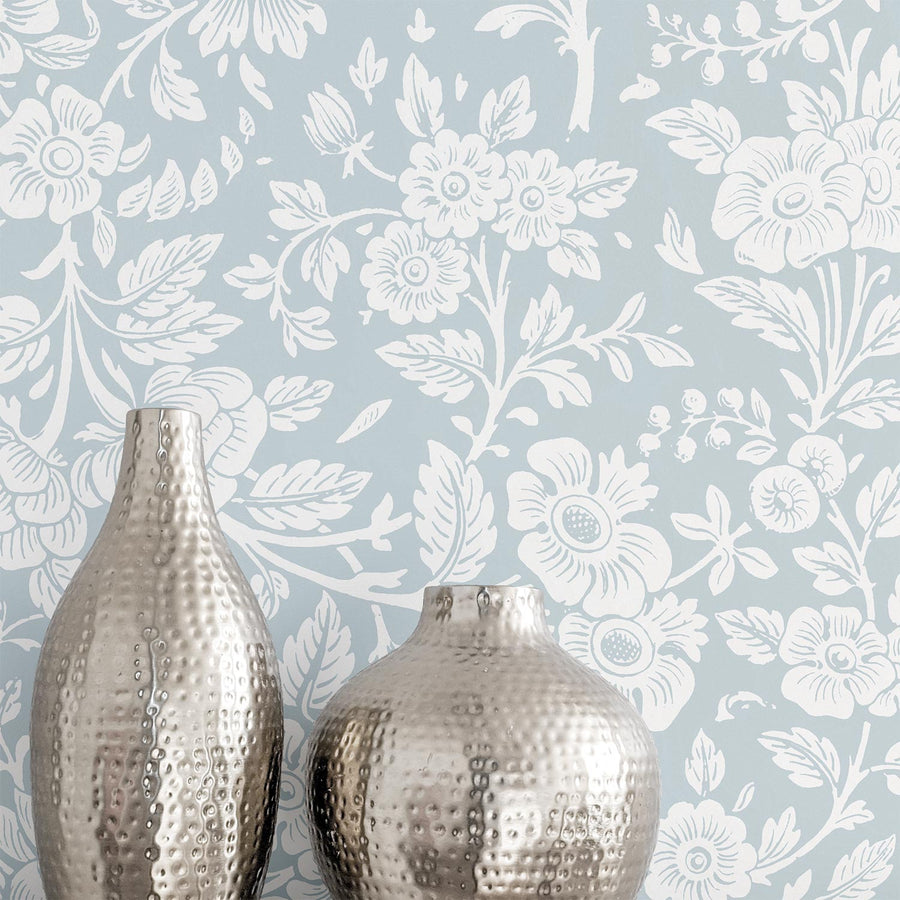 Granny Chic Floral Print removable wallpaper