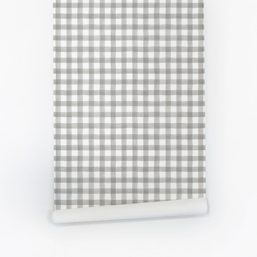 Gingham self-adhesive wallpaper