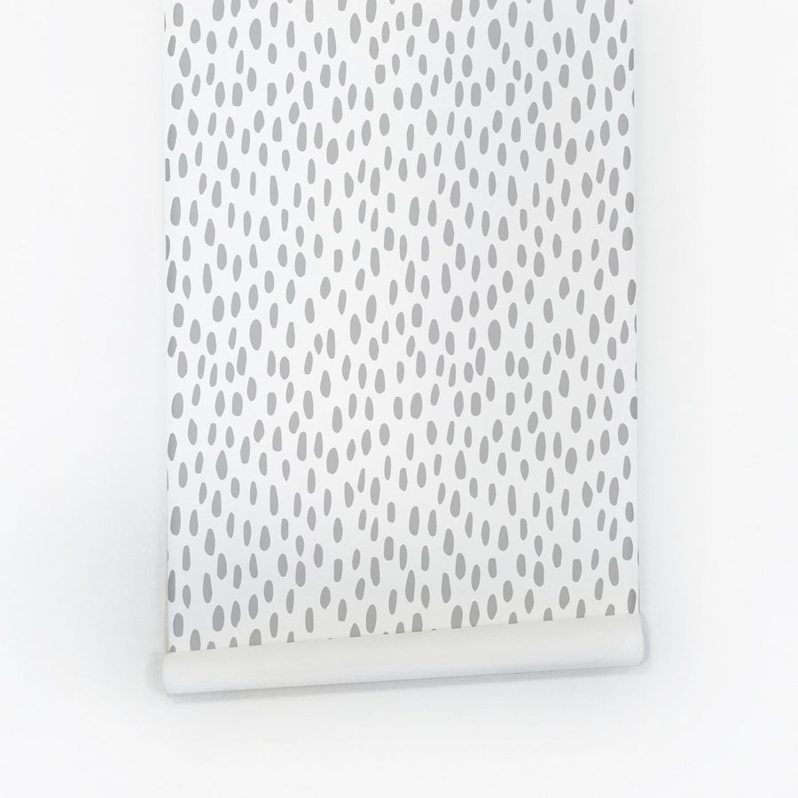 Grey speckle removable wallpaper for kids room
