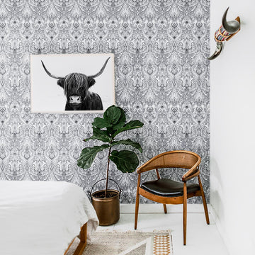 Modern boho removable wallpaper