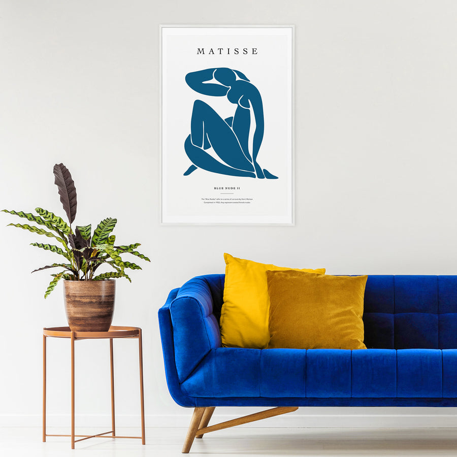 Henri Matisse Eclectic Blue Nude wall Decor