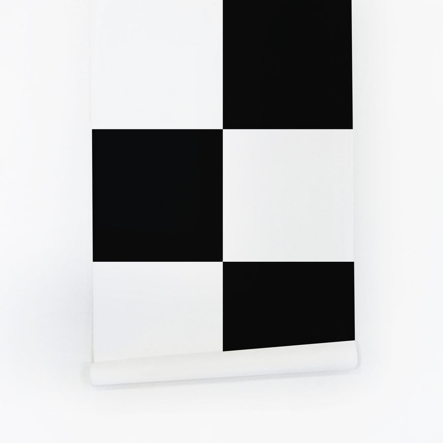 Black checkers removable wallpaper