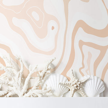 Light Pink Agate Print Removable Wallpaper