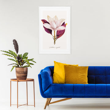 Wall decor with Magnolia flower print