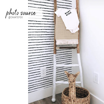 Kids room scandi boho peel and stick wallpaper
