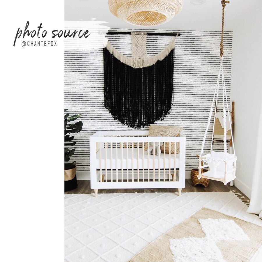 Dotted Bohemian Kids Room Wallpaper