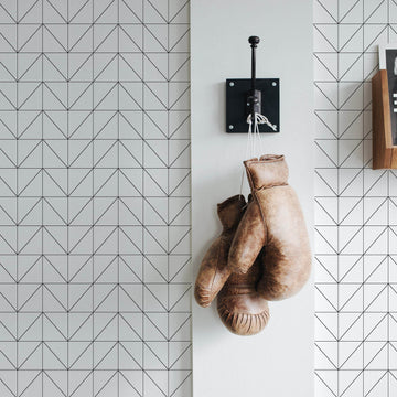 Scandinavian design chevron removable wallpaper