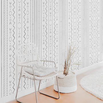 Bohemian nursery removable wallpaper