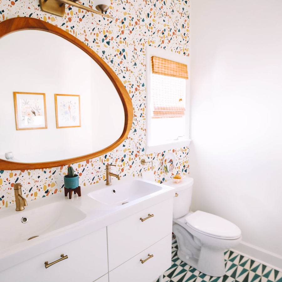 Bright Terrazzo Design Removable Wallpaper