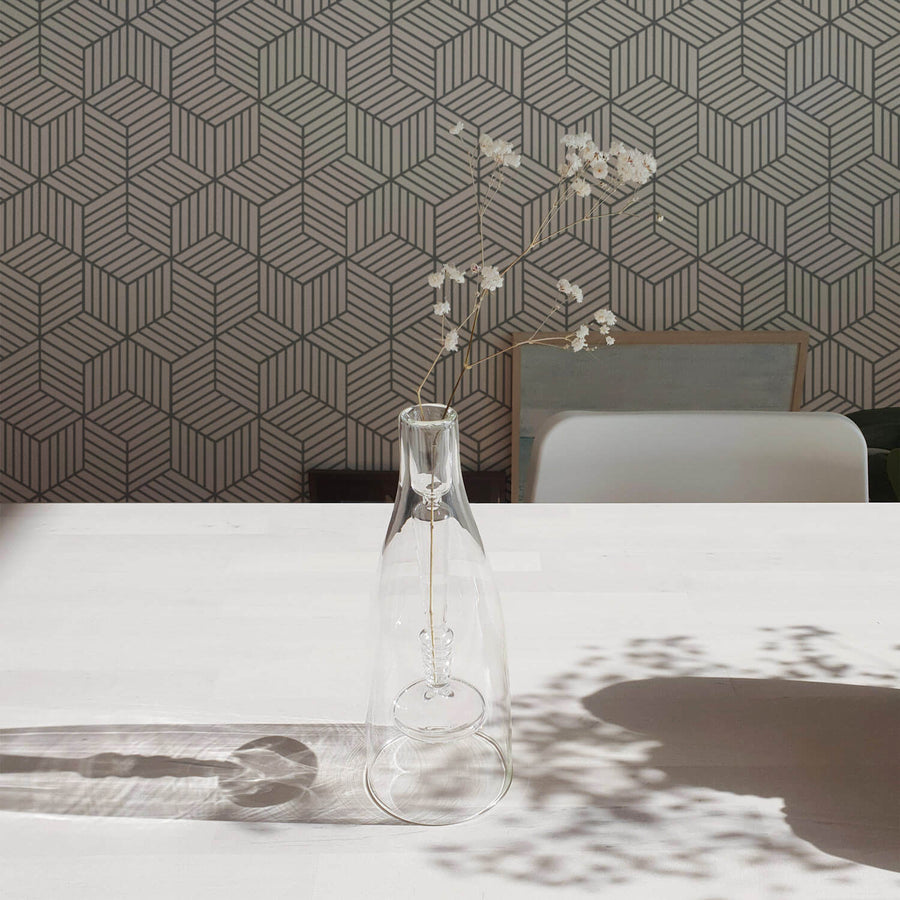 Modern cube design removable wallpaper
