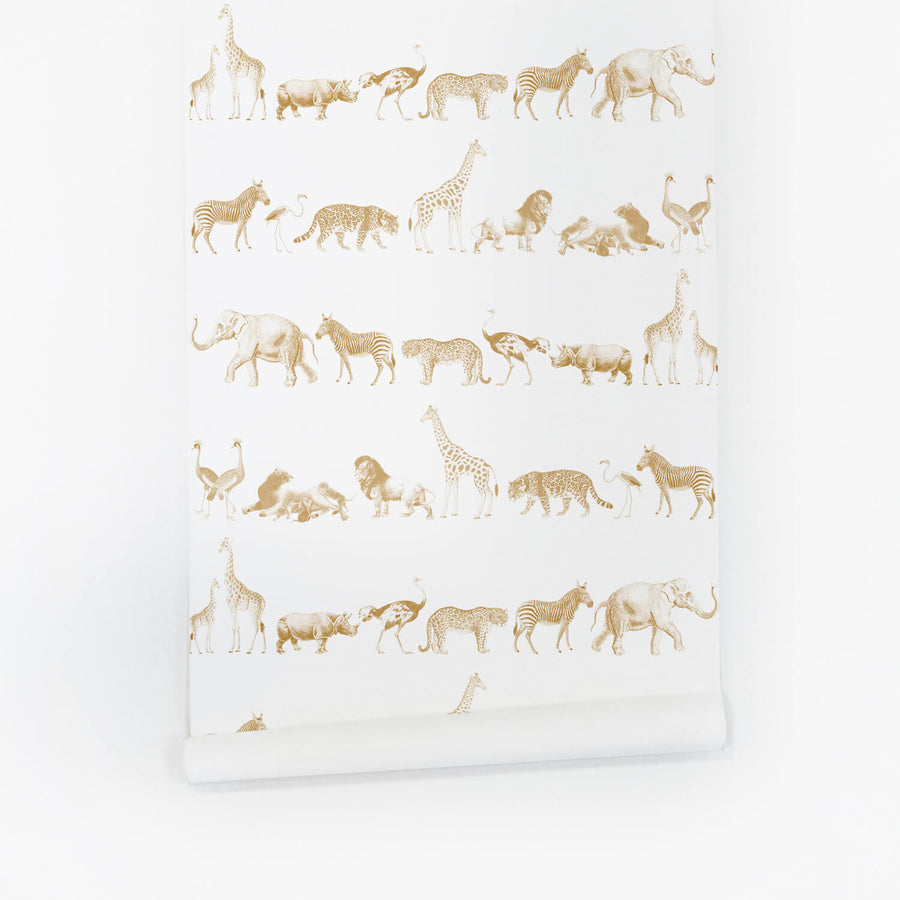 Animal self adhesive peel and stick wallpaper