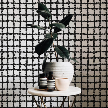 Fancy checkers removable wallpaper