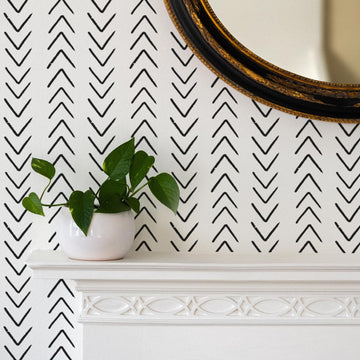 Scandinavian arrow design removable wallpaper