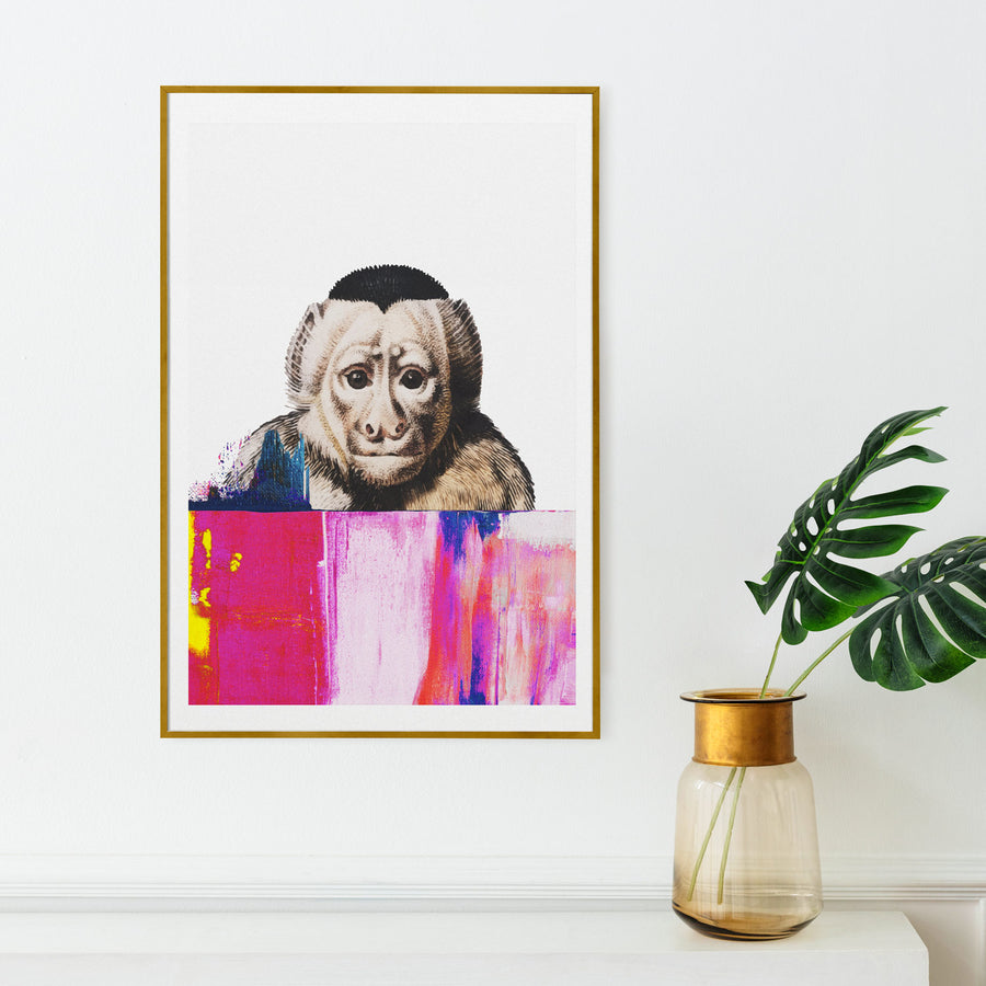 Painting with monkey art print