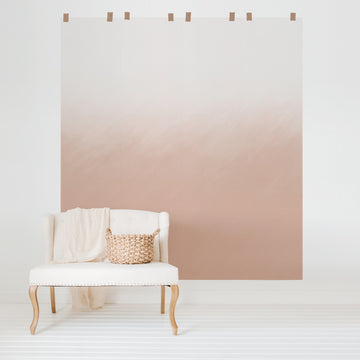 Dusty pink ombre wall mural