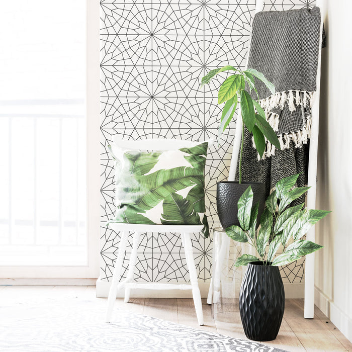 Scandi style geometric removable wallpaper