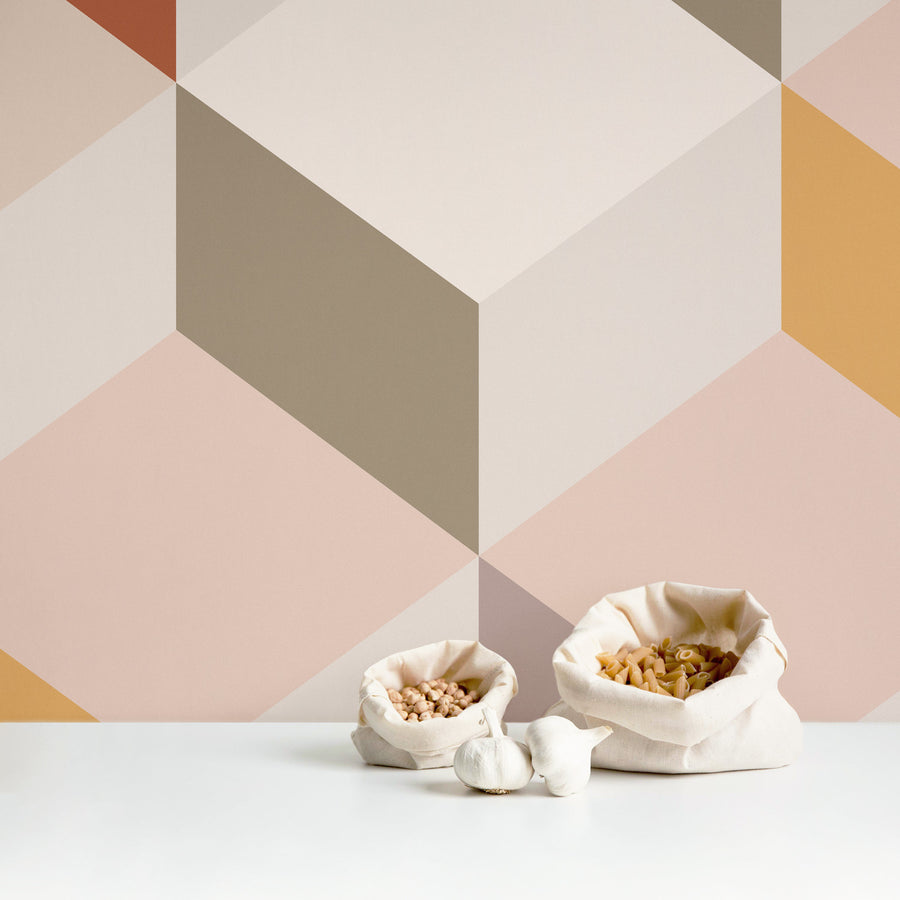 Pastel Geometric removable wall mural
