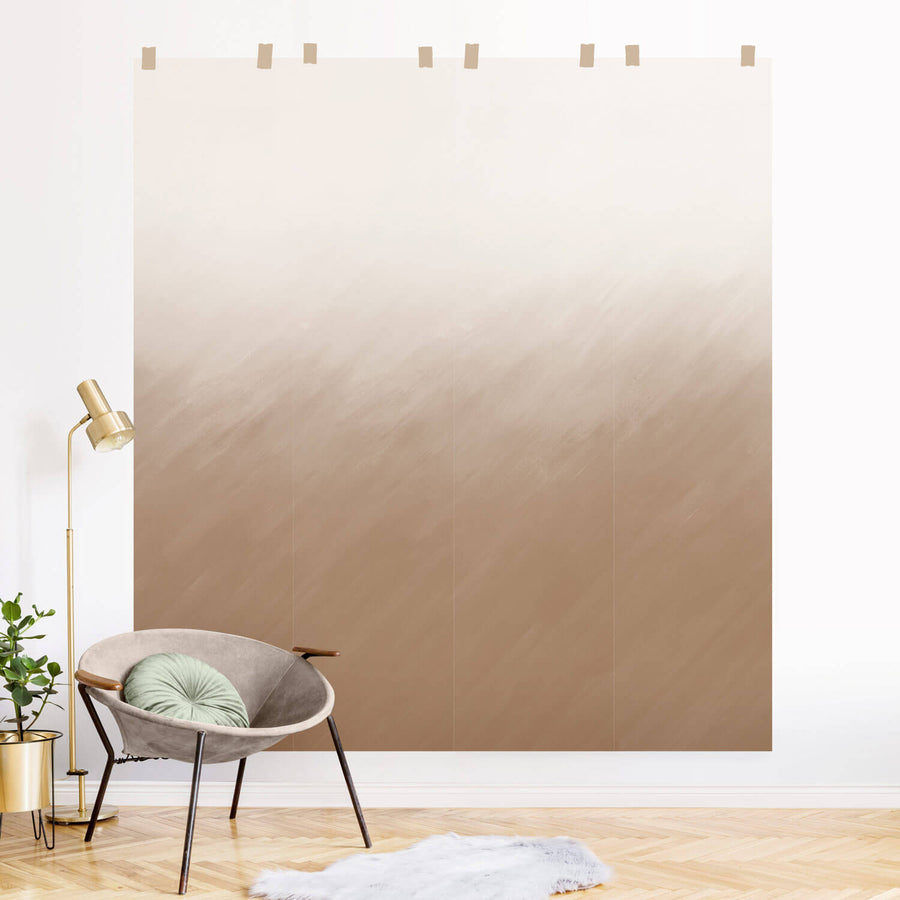 Pastel Ombre removable wall mural inspired by pampas grass