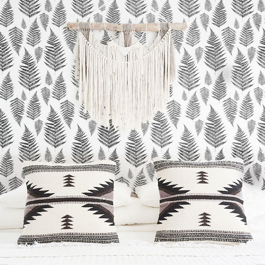 Fern leaves removable wallpaper