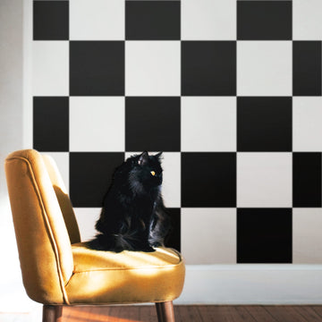 Large checkers design removable wallpaper
