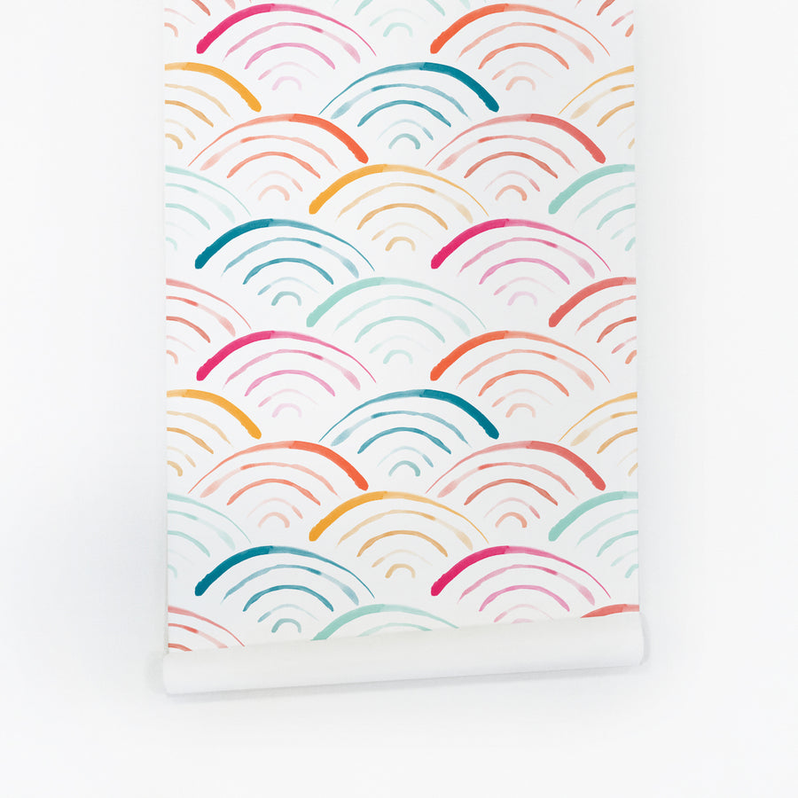Rainbow removable wallpaper by Livettes