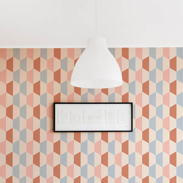 Geometric pattern kids room wallpaper