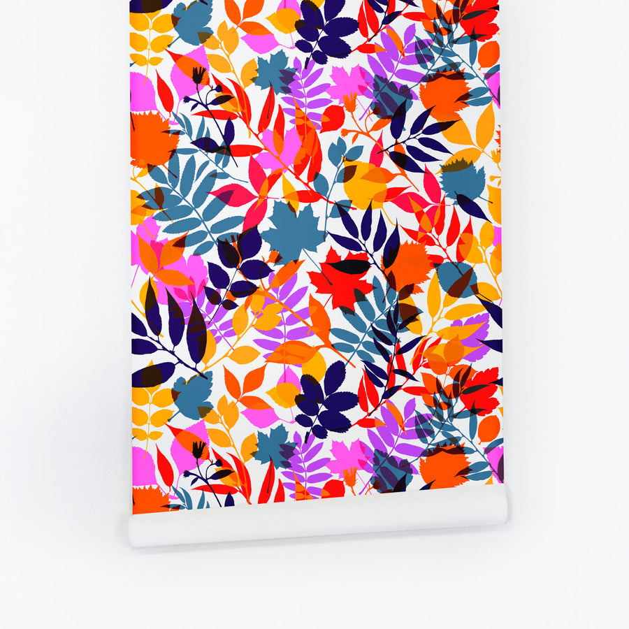 Bright floral removable wallpaper