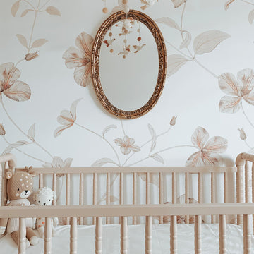 Soft Floral Design wall mural