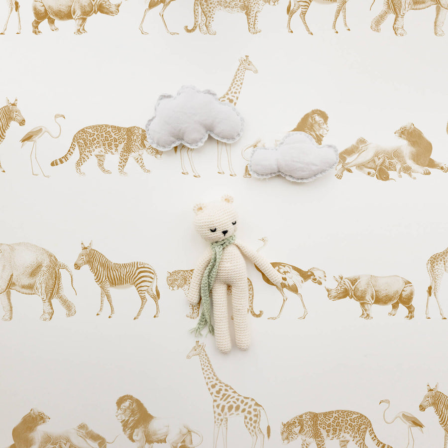 Kids room animal removable wallpaper
