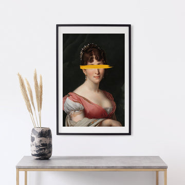 Lady painting print poster