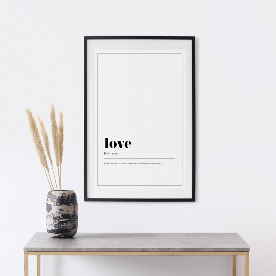 Poster with Love text