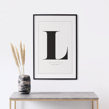Graphic letter print poster